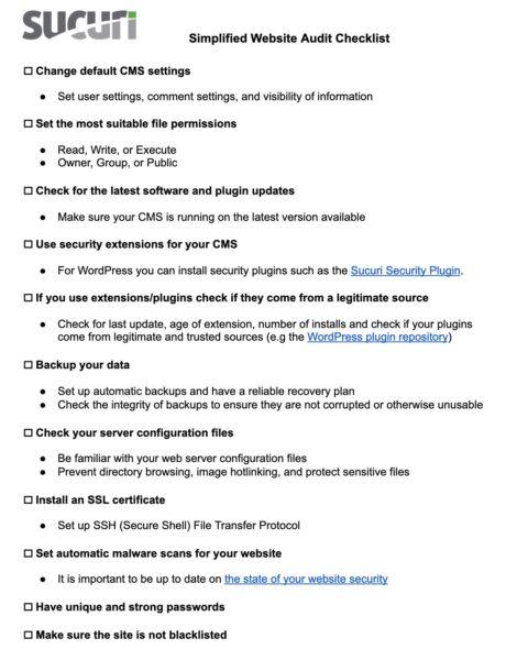 Web Audit Security