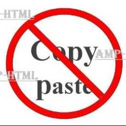 Anti Copas (Copy Paste) Blog Valid AMP