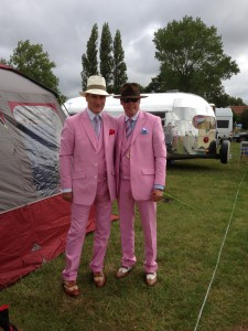 Stunning Pink Gatsby Suits Photo sent from Customers