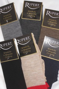 Rupert The Tailor Red Top Socks