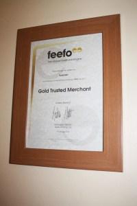 Feefo Gold Merchant