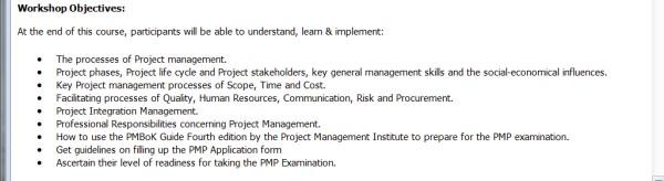 PMP Training Case - 4