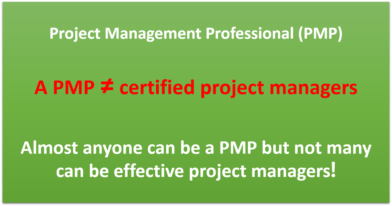 A Few Images To Clear The Myth On The Pmp Applied Project Management