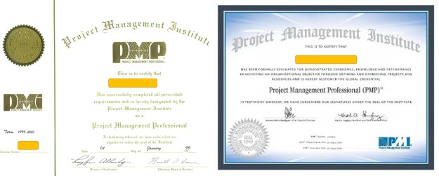 Comparing a 1998 with a 2016 PMP Certificate