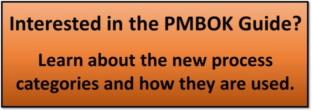 PMBOK Guide Process Categories