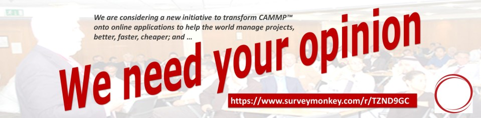 We would be grateful for your help. The questionnaire should take 5 to 10 minutes. #CAMMP #ProjectManagement https://www.surveymonkey.com/r/TZND9GC Please share it with your network, if you think it is of value.