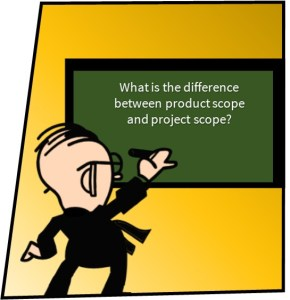 the difference between product scope and project scope