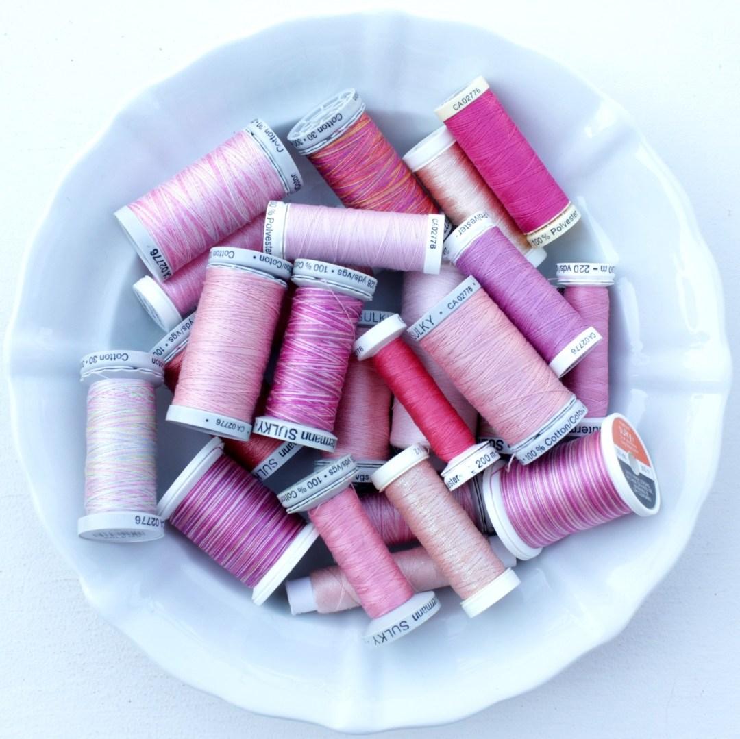 Pinkfarbene Garne