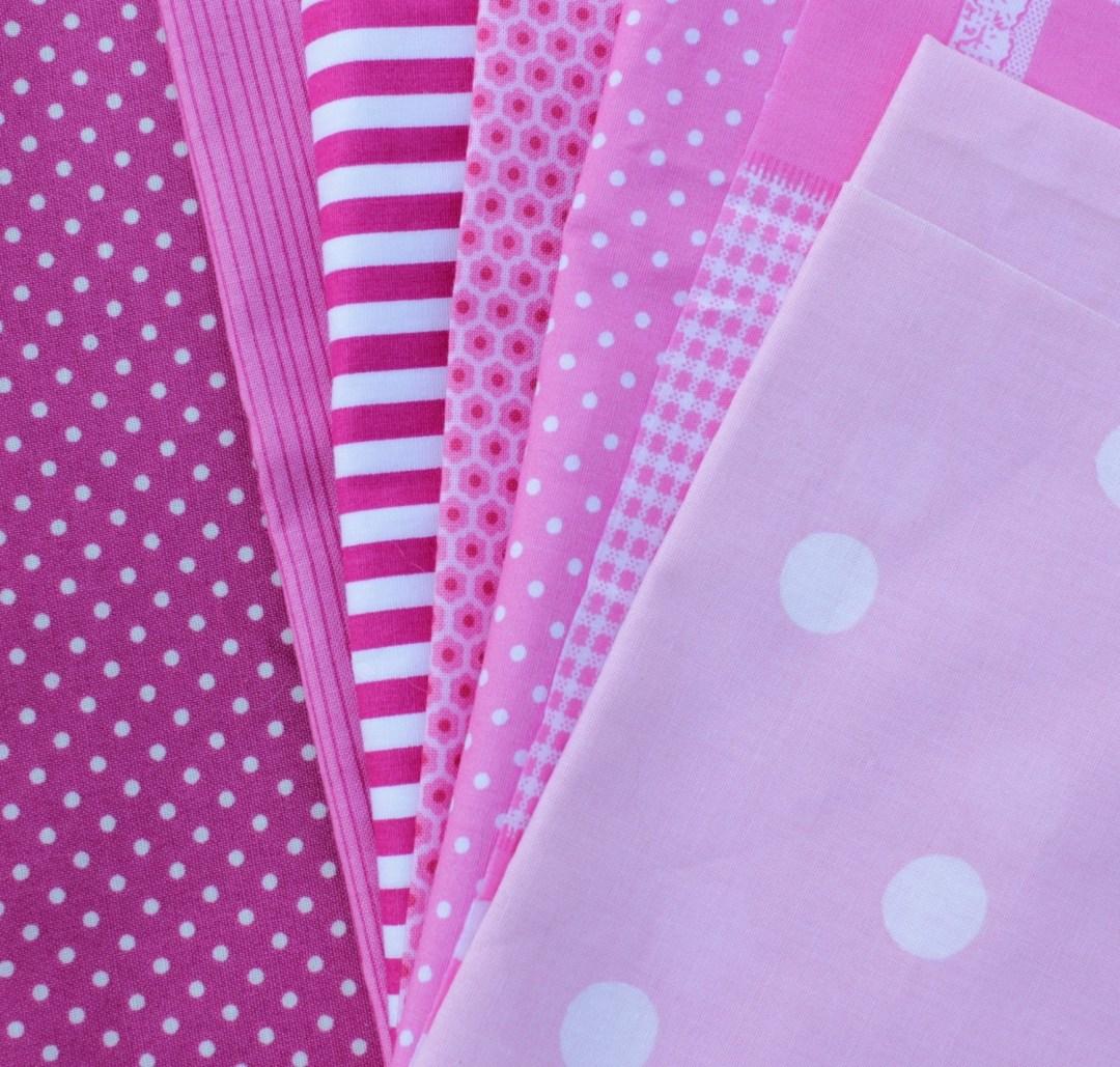 Pinkfarbene Stoffe