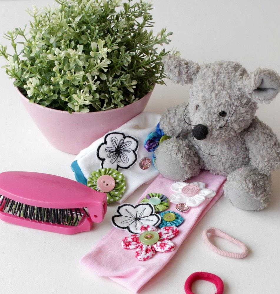 Kinderstirnband mit Blüten