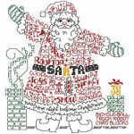 SULKY® Stickdesign Santa Word Play