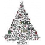 SULKY® Stickdesign Christmas Tree Word Play