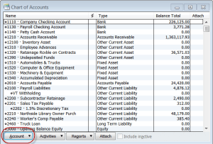 Customize the QuickBooks Chart of Accounts