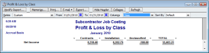 Profit & Loss by Class Report