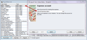 assign your payroll items to the new expense accounts