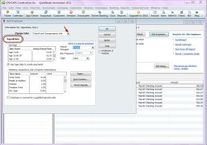 QuickBooks 2012 employee record - payroll & compensation info - payroll info