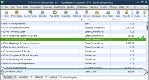 employee loan recorded-chart of accounts
