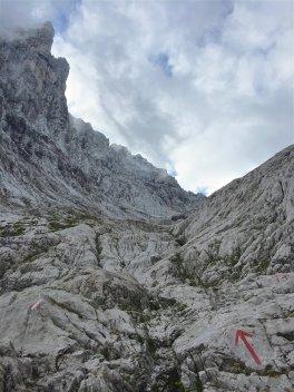 Aufstieg zum Ellmauer Tor über den Eggersteig