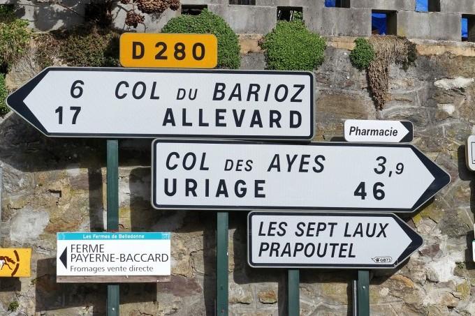 Borden wijzen de weg Les 7 Laux frankrijk