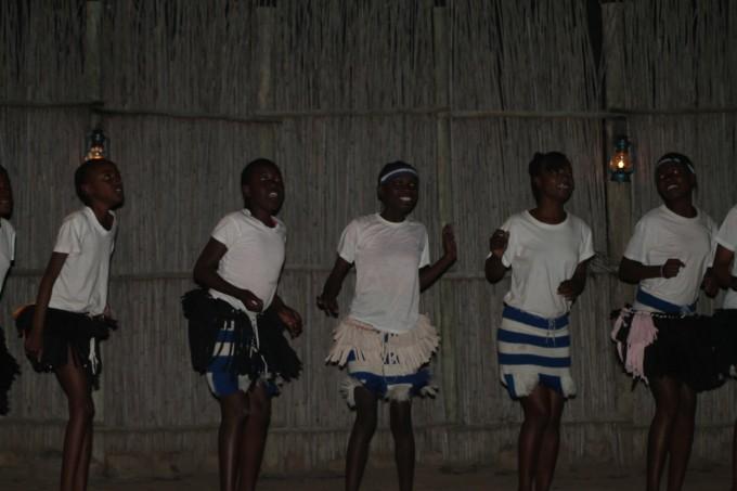 Dansende mensen zuid-afrika
