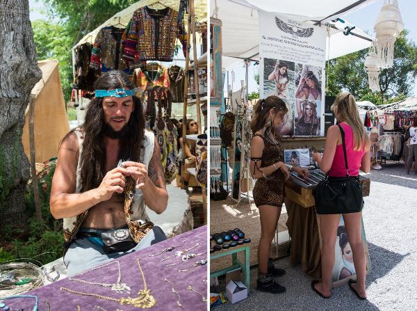 Ibiza markt hippie
