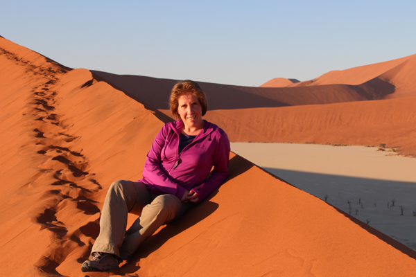 Sunny Annick in Namibië