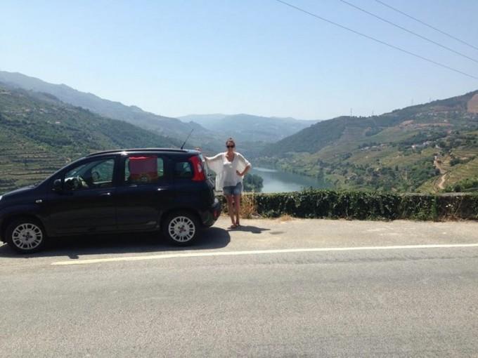 Uitzicht Douro vallei portugal