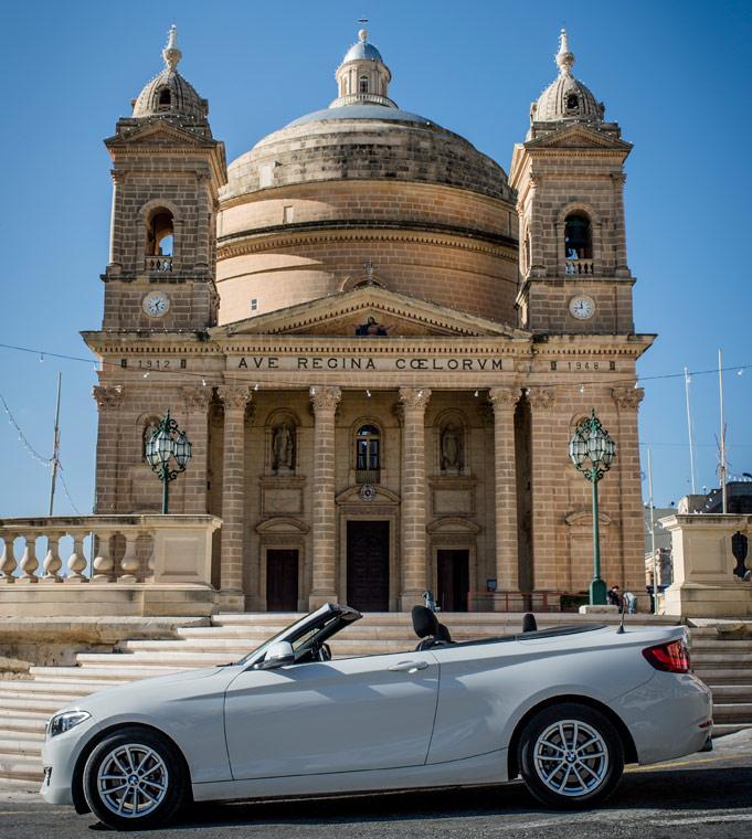 Malta cabrio kerk