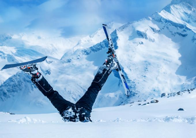 wintersport autohuur ongeluk