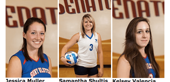 Members of the Women's Volleyball Team