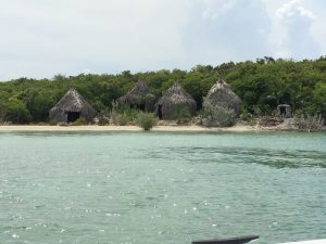 A replication of an Arawak Village. The Arawak are the original natives of Half Moon Cay.