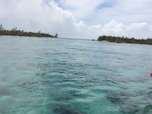 This is the sole opening in to the Atlantic Ocean from the Half Moon Cay Lagoon.