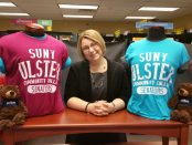Lucia Pecore with SUNY Ulster merchandise