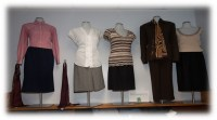Professional women's business attire at the Start Here, Go Far Boutique
