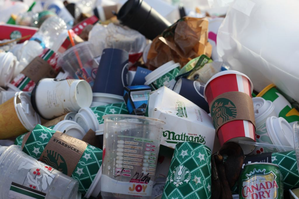 Brands spotted in trash in the US