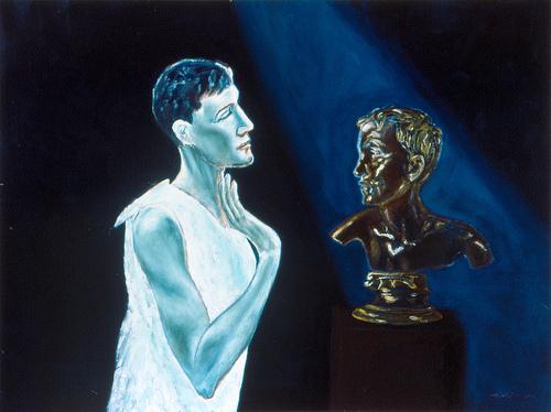 "Encounter Oil on Canvas 36"" x 48"" Completed in 2001 © Matthew Felix Sun www.matthewfelixsun.com"