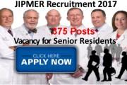 JIPMER Recruiting Senior Resident Job Posts 2017