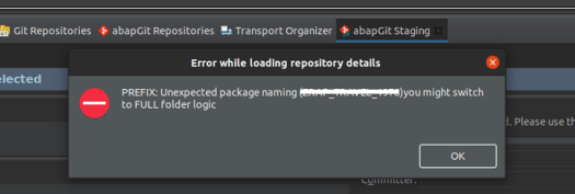abapGit: Error on the SAP Cloud Platform ABAP Environment
