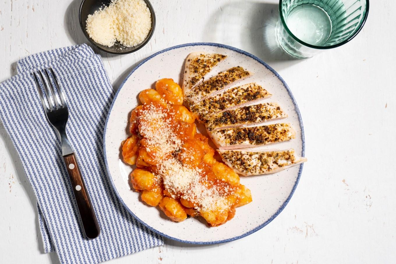 Chicken Breast with Gnocchi Marinara
