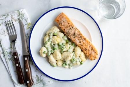 Salmon with Lemon Herb Gnocchi