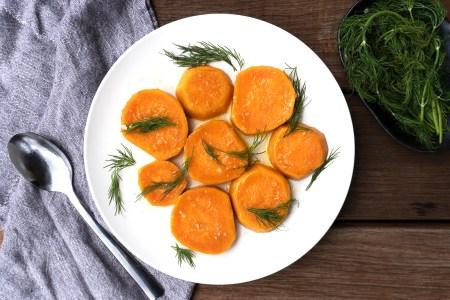 Sous Vide Sweet Potatoes