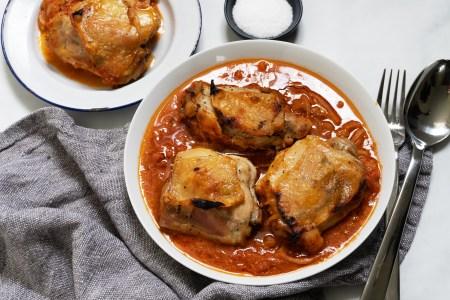 Roast Chicken with Vodka Sauce