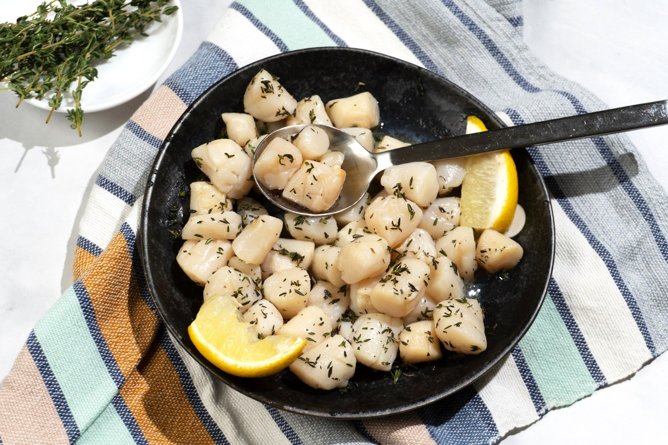 Roast Scallops with Herb Butter