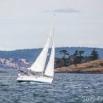 Puget Sound scenery San Juan Islands Sailboat