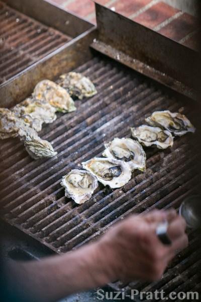 BBQ oysters in San Juan Islands Washington