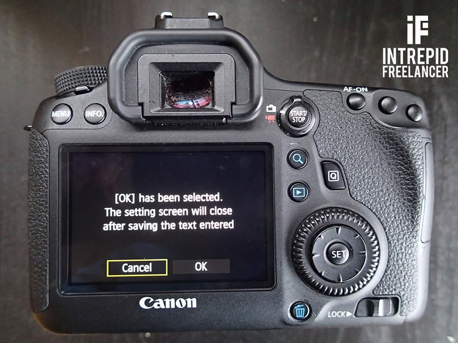 How to set up Wifi on Canon 6D