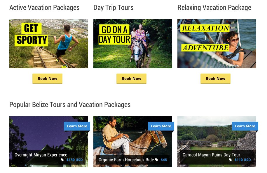 Hanna Stables Belize vacation package