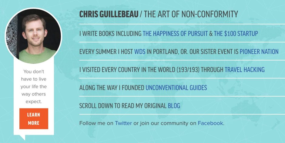 Chris Guillebeau The Art of Non Conformity