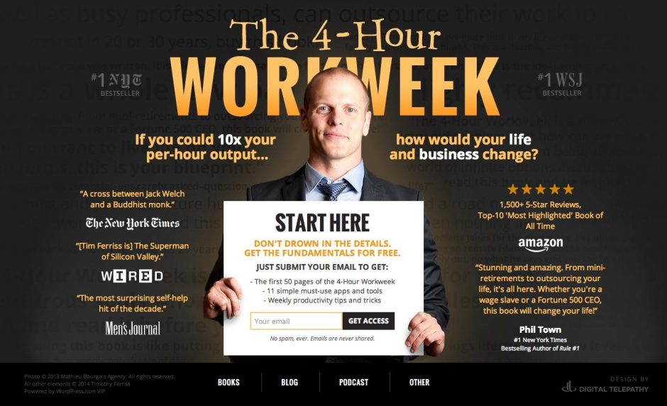 Four Hour Work Week Tim Ferriss