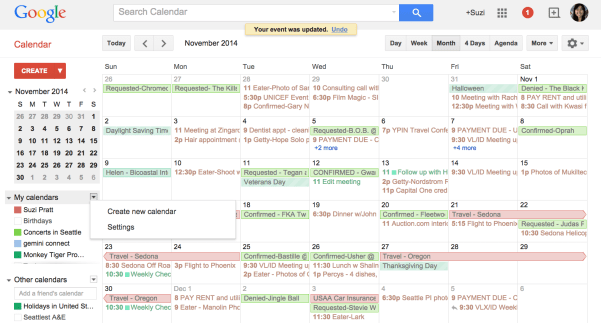 Google calendar for freelance and self employment organizing